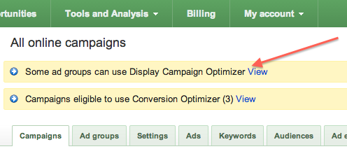 display campaign optimizer