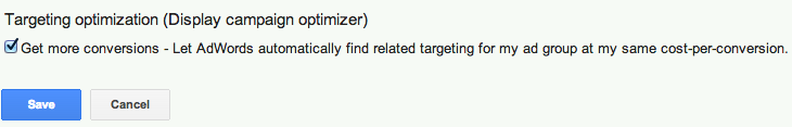 display campaign optimizer enable
